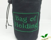 Bag of Holding Dice Bag, Dice Holder, D&D embroidered Dice Bag, Pathfinder Bag, Coin Purse Bag