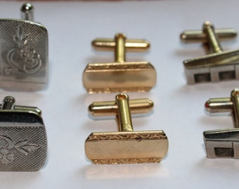 Vintage Lot of Cuff Links, 3 Different Sets, 1950's Era