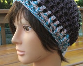 Multicolor Cotton Crocheted Slouch Hat 15/15