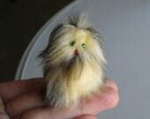 Furry Monster miniature stuffed animal  Fur-bitz doll