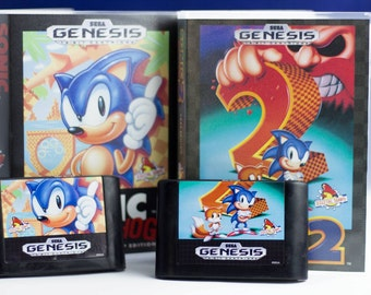 Sonic the Hedgehog Soap Set of Cartridges and Cases, Officially Licensed by Sega