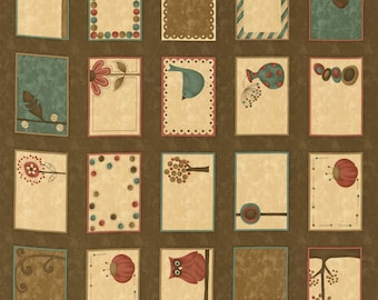 Name that Quilt Label Panel 24x44 Chocolate 17630-12