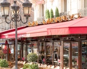 Paris Cafe on the Left Bank, Winter in Paris, Cafe Photo, Art Prints, Paris Photography, Paris Decor, French Kitchen Art, Cafe Metro