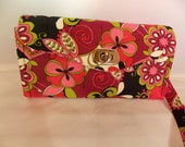 Necessary Clutch Wallet-Floral Wallet-Smartphone Wallet-Accordian Style Clutch Wallet-Multi-Purpose Wallet