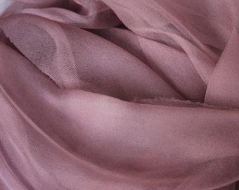 "Mink Brown Silk Chiffon Gauze - Photo Prop - Infant Wrap  - Great Gift - Low Shipping - Accessory - 20"" x 80"""""