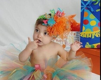 Bright Colorful Over the Top Birthday Bow Free Shipping on All Additional Items