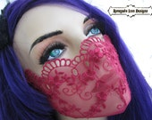 Red Lace Mask, Lingerie, Fetish, Fantasy, Play wear, Club wear, Medical Fetish, Cos Play: Renegade Icon Designs