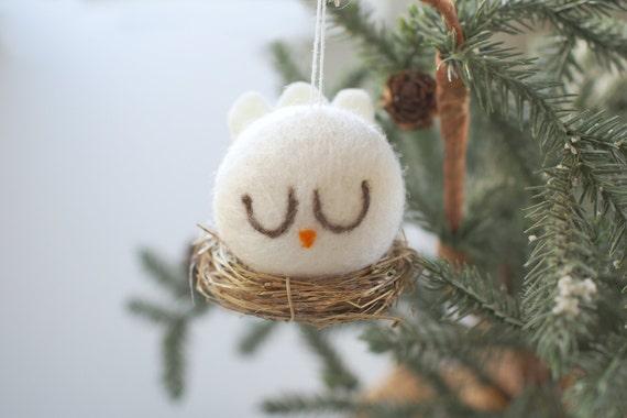 Dove Christmas Ornament White Peace Dove Bird Tree