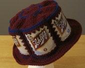 Crocheted Beer Can Hat - Schlitz