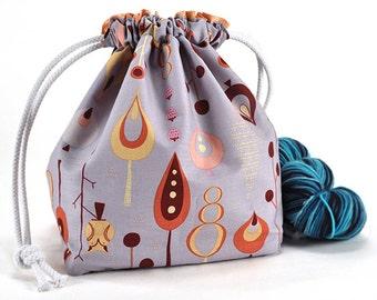 Knitting Crochet Project Bag *with yarn guide* - Hide n Seek