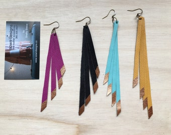 Shoulder Duster fringe Earrings