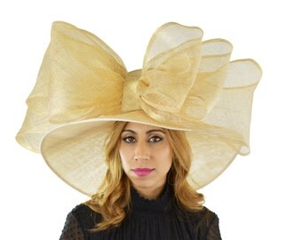 Pale Gold MagPie Hat for Kentucky Derby, Weddings  (40 colours available)