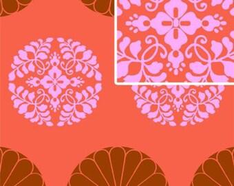 Free Spirit - Amy Butler -  Cameo - Pressed Flowers in Carmine - Half Yard Cotton Fabric