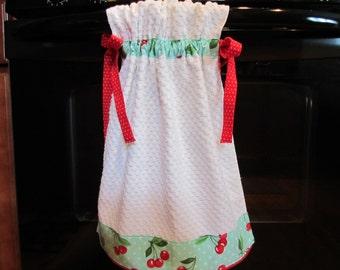 Tie-Top Towel Retro Cherries