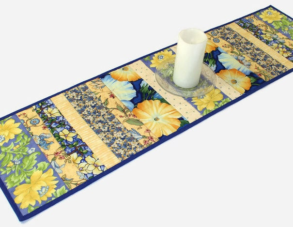 Blue and Yellow Floral Quilted Table Runner Spring Quilt : ilfullxfull968683972s2kv from www.etsy.com size 605 x 469 jpeg 73kB