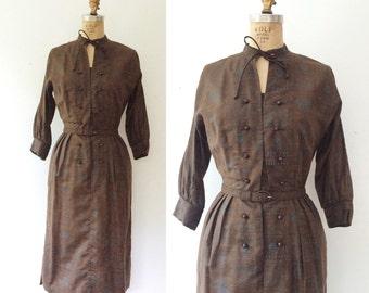 1950s dress / Nelly Don dress / Dutch Tulip shirtdress