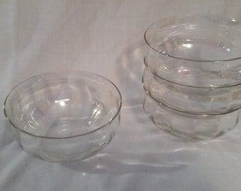 4 Iridescent bowls, vintage set, mid-century, SALE