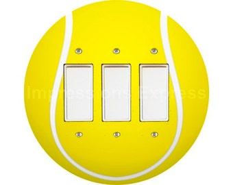 Tennis Ball Triple Decora Rocker Switch Plate Cover