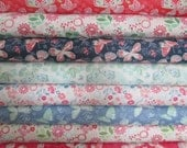 Aria Half Yard Fabric Bundle -  Moda - Kate Spain - Butterflies and Flowers