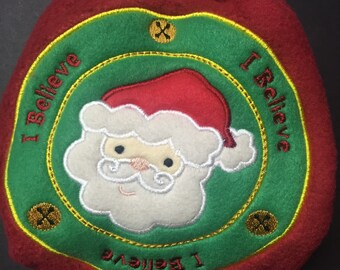 Christmas MamaBear One Size Fleece Diaper Cover - I Believe in Santa