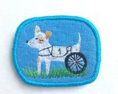 Textile Pet Brooch - Dog N1 - Funny Dogs - collection, hand embroidered textile dog jewelry. Dog embroidery. Dog portrait.
