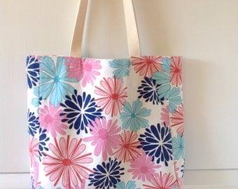 Floral Canvas Tote/ Purse/ Handbag