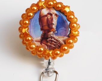 Star Wars CP3O ID Badge Reel - Retractable ID Badge Holder - Zipperedheart