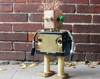 PENN Found Object  Robot Sculpture Assemblage Steampunk
