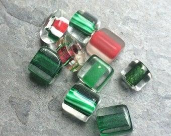 Christmas Mix Furnace Glass Beads