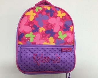 Personalized Stephen Joseph All Over Print Butterfly Lunchbox