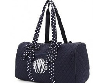 Personalized Navy/White Duffle Bag Bag Cheer Dance Pageant