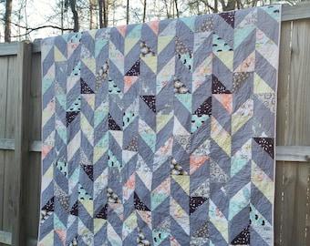 Herringbone Quilt in Bonnie Love fabrics, choose any size