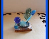 dollhouse miniature Butterfly Spell tray Potion Witch ooak Glows in Dark Can be custom made too