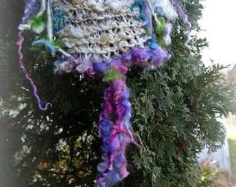 enchanted faerie solstice bag of purple and amethyst - shoulder bag