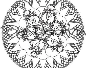 Coloring page - Boho inspired Mandala