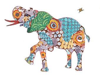 Elephant Print Giclee Print Elephant Art Elephant Wall Art Elephant Decor Elephant Art Print Elephant Home Decor Animal Art Print