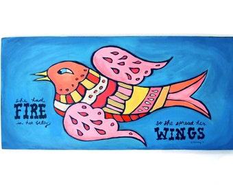 Whimsical Bird Painting