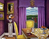 Fine Art Print of Interior still life painting, That's Where You Will Find Me- Original Painting