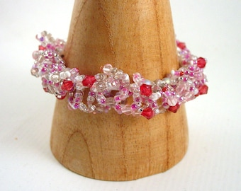 Candy Floss Pink Loopy Bracelet