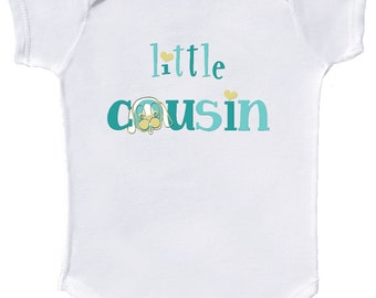 Little Cousin Baby Bodysuit infant boy shirts by Mumsy Goose Newborn Creepers to Kids Tees  Sibling Shirts