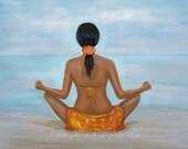 "Meditation Art Meditation Art Print Yoga Art Relaxing Calming Zen Meditation Decor Yoga Room Decor ""Completely Calm"" Leslie Allen Fine Art"