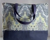 Sari Grey XL Extra Large BIG Tote Bag / Beach Bag - Ready to Ship