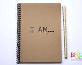 I AM.... Kraft Blank Journal