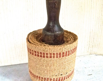 Vintage Jute Strapping Spool Roll Five Yard Spool Vintage Burlap Strapping Vintage Spool of Strapping Vintage Decor Crafting Supply