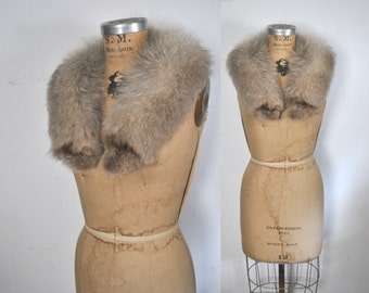 Genuine Fox Fur Collar / bridal wedding
