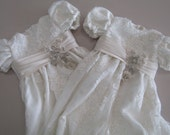 Christening Baptism Gown Twins Conversion from Wedding Dress RESERVED