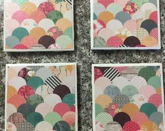 Patchwork pattern coasters