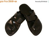 20% OFF Black Zing Leather Sandals for Men & Women
