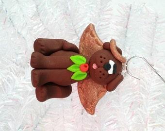 Dog Angel Christmas Ornament - Brown Dog Angel Ornament - Puppy Christmas Ornament - Dog Lovers Gift - Pet Ornament - Dog Owners Gift -8142