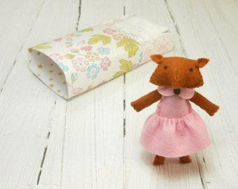 Woodland fox plush stuffed red fox animal plushie gift for children kids room decorative fox softie doll pink baby shower birthday